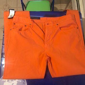 Men's polo pants size 36/34 orange.. New old stock